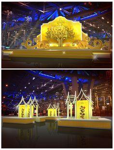 Tile : ท่าอากาศยานไทย ใต้ร่มพระบารมี  Design : ออกแบบให้มีความความไทย และใช้แสงสีทอง แสดงถึงดินแดนแห่งสุวรรณภูมิ Client : บริษัท ท่าอากาศยานไทย จำกัด(มหาชน)