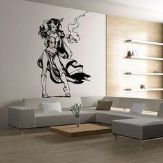 Wall Decal Decor Decals Sticker Art Vnyl Design Girl Warrior Knight Lightning Film Movie Cartoon Bedroom (M1241) DecorWallDecals http://www.amazon.com/dp/B00MGLPARY/ref=cm_sw_r_pi_dp_gSW2ub1MVXK44