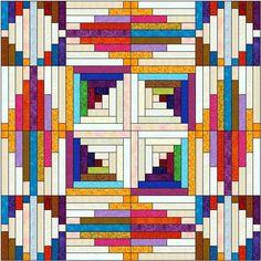 Log Cabin Quilt Pattern Variations | 7x7 arrangement showing more patterns