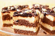 Czekoladowe ciasto z kremem śmietankowym. - Domowe Torty Tiramisu, Cookies, Chocolate, Eat, Ethnic Recipes, Food, Sweets, Sheet Cakes, Baking