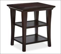 "Metropolitan Rectangular Side Table   Pottery Barn $239 22"" wide x 18.5"" deep x 25"" high"