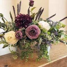 Excited to share this item from my shop: Ready To Ship - Farmhouse Style Floral Arrangement Fall Floral Arrangements, Beautiful Flower Arrangements, Floral Centerpieces, Wedding Centerpieces, Beautiful Flowers, Tall Centerpiece, Basket Flower Arrangements, Centerpiece Ideas, Garden Types