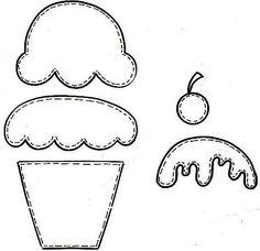 patron para realizar cupcake