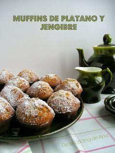 Muffins de Plátano y Jengibre con Crema de Queso al Limón