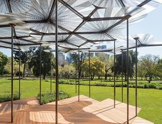 This allows even the lightest breeze to go through the structure and make it sway gently.
