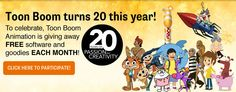 Toon Boom Animation Kicks off 20 Anniversary Celebration with Year-long Giveaway 20th Anniversary, Have Some Fun, Giveaway, Celebration, Software, Kicks, Animation, Technology, Free
