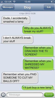 Dog texts… KUDOS TO THE PIN CREATOR!!!