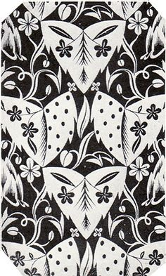1924 Black & White Art Deco Wallpaper by American Vintage Home, via Flickr