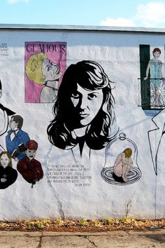 Sylvia Plath street art artist unknown