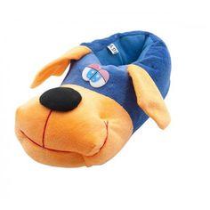 Mavi Renkli Köpekler Çocuk pandufları / TWIGY