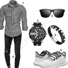 Herren-Style mit kariertem Hemd, Jeans und Sonnenbrille #hemd #jeans #adidas #outfit #style #fashion #ootd #herrenmode #männermode #outfit #style #fashion #menswear #mensfashion #inspiration #menstyle #inspiration