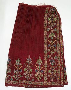 popular folk embroidery Skirt Date: early century Culture: Romanian Medium: wool - Folk Embroidery, Embroidery Patterns, Textiles, Costume Institute, Traditional Fashion, Folk Costume, Metropolitan Museum, Fashion Art, Vintage Outfits