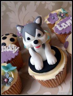 Husky cupcake  Cake by dollybird #dogs #pets