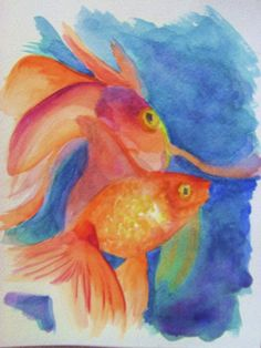 Goldfish Painting by Gina Fulcher - Goldfish Fine Art Prints and Posters for Sale