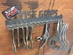 Garage organization is not difficult nor is it expensive. Whether you have a large garage or just a small space, there are many… Continue Reading → Welding Shop, Diy Welding, Welding Table, Metal Welding, Garage Tool Storage, Workshop Storage, Garage Tools, Garage Workshop, Garage Art