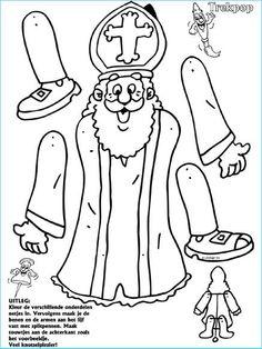 Sinterklaas -saint nicholas craft print cut out puppet Catholic Art, Catholic Saints, St Nicholas Day, Paper Puppets, Santa Pictures, Saints Days, Fete Halloween, Theme Noel, Winter Kids