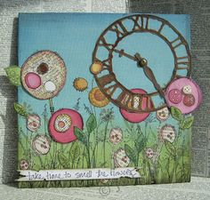The Craft Barn: Spring bouquet - JOFY and Lin Brown