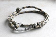 Fish Hook Bracelet  Olive Khaki Grayby vertini, $20.00