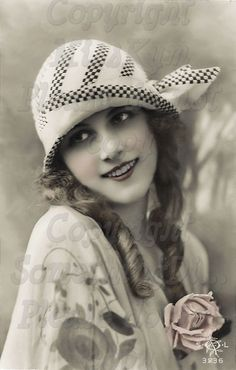 Flapper, Beautiful  Woman vintage photo digital download