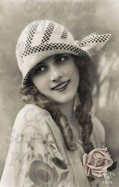Flapper Beautiful Woman vintage photo digital by MsAlisEmporium, $2.50