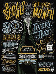 EveryDay with Rachael Ray | Erik Marinovich #type #typography #chalkboard