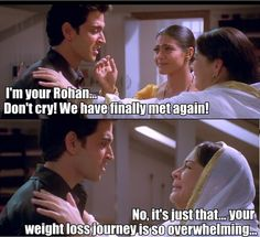A look back at the beautiful film that instilled all of our faith in miraculous weight loss and made us think of Kareena every time we made a dookie. Desi Humor, Desi Jokes, Indian Funny, Indian Jokes, Funny Puns, Hilarious, Funny Insults, Funny Cartoons, Funny Humor