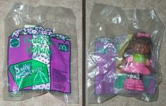 McDonalds - Totally Toy Holiday - SALLY SECRETS (Black American) - Paper Punch Figure - 1993 ** To view further for this item, visit the image link.