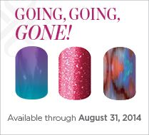 """#JamberryNails is retiring 138 wraps. Be sure to get your favorites before September 1st! Go to www.kategriffin.jamberrynails.net Click, """"Shop."""" At check out, select the Going, Going, Gone party!"""