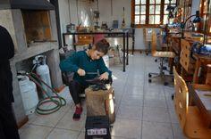 Paola Raggo making jewelry