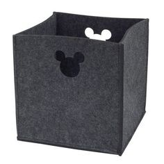 He'll love to keep his room neat and tidy with the Mickey Mouse Storage Bin from Disney. This cute organizer is made of soft felt with die-cut, Mickey-shaped side handles. It's perfect for storing toys, treasures, diapers and more. Mickey Mouse Bathroom, Mickey Mouse Nursery, Disney Bathroom, Mickey Y Minnie, Disney Mickey Mouse, Minnie Mouse, Disney Cars, Mickey Mouse House, Disney Disney