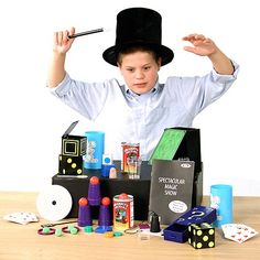 Kids Deluxe Magic Show Kit 100 Tricks Suitcase - Educational Toys Planet http://www.educationaltoysplanet.com/kids-deluxe-magic-show-kit-100-tricks-suitcase.html
