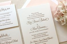 The Hydrangea Suite Classic Letterpress by DinglewoodDesign