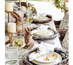 We have taken a playful approach with Easter brunch this year incorporating a woodland motif that includes the most adorable fuzzy bunny friends we could find!