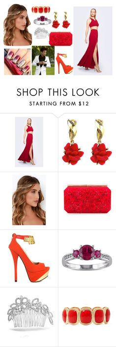 walking down the red carpet with Omar Rudberg as your date by katleenpierre on Polyvore featuring Fame & Partners, Qupid, Oscar de la Renta, Monet, Miadora, Lulu*s and Bling Jewelry