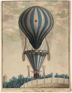 Steampunk air balloon.