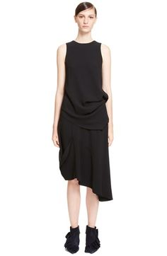 J.W.ANDERSON Side Tuck Crepe Blouse. #j.w.anderson #cloth #