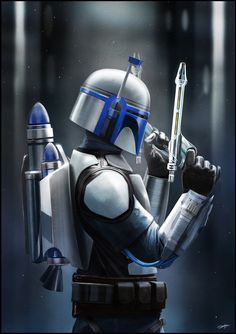 Jango Fett by Andy Fairhurst, via Behance