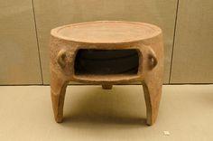 File:Archaeological site of Akrotiri - Museum of prehistoric Thera - Santorini - clay portable oven - 01.jpg