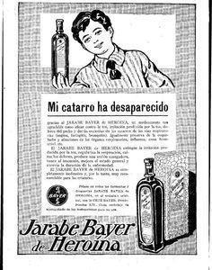 Jarabe_de_Heroina_retroterapias (2) Vintage Advertisements, Vintage Ads, Vintage Posters, Punk Poster, Vintage Medical, Drugs, Nostalgia, Medicine, Advertising