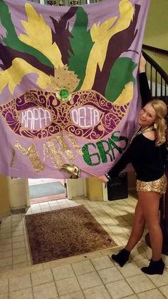 Kappa Delta Mardi Gras Date Party Banner by Kari Slocum.