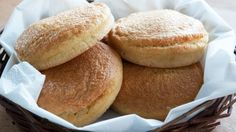 Paleo Burger Buns: 6 eggs 100 g (3½ oz) butter (or any other type of fat) 150 g (6 oz) almond flour 2 tsp baking powder
