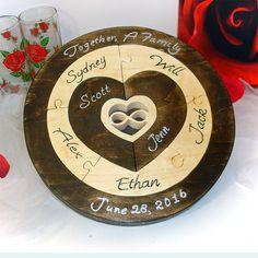 Custom Designed Unity Ceremony Wedding Puzzle Blended Family Wedding Unity  Puzzle Custom Designed Family Puzzle Mothers