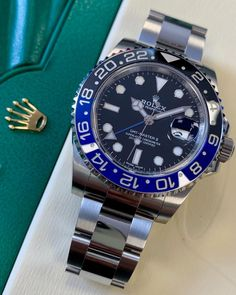 The recently discontinued Rolex GMT-Master II Batman. Comes complete with original box & papers and Rolex International warranty dated until 2021. Perfect to wear or to put away as part of a collection.