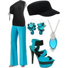 Black & Blue, created by randomlylogical on Polyvore