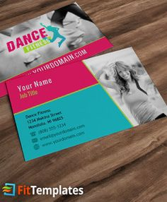 42 best business cards images on pinterest business card design zumba or dance studio business card template from fittemplates reheart Image collections