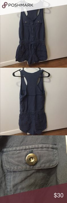Armani Exchange Navy Romper Lightly worn navy Romper with silver metal buttons. A/X Armani Exchange Other
