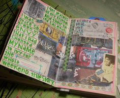 by amyfaerie: mixed-media, 2010, altered book journal.