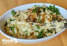 Käsespätzle | Nosalty Spatzle, Hungarian Recipes, Gnocchi, Pasta Recipes, Risotto, Potato Salad, Cauliflower, Potatoes, Baking