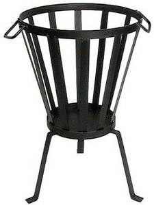 Patio Fire Bowl Pit Firepit Steel Basket Brazier Outdoor Heater Garden Log