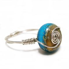 Seaside  Sterling Silver Wire Wrapped by colorsofserendipity, $19.00